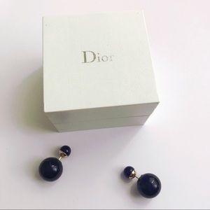 Dior Mise en Dior tribale earrings navy Authentic